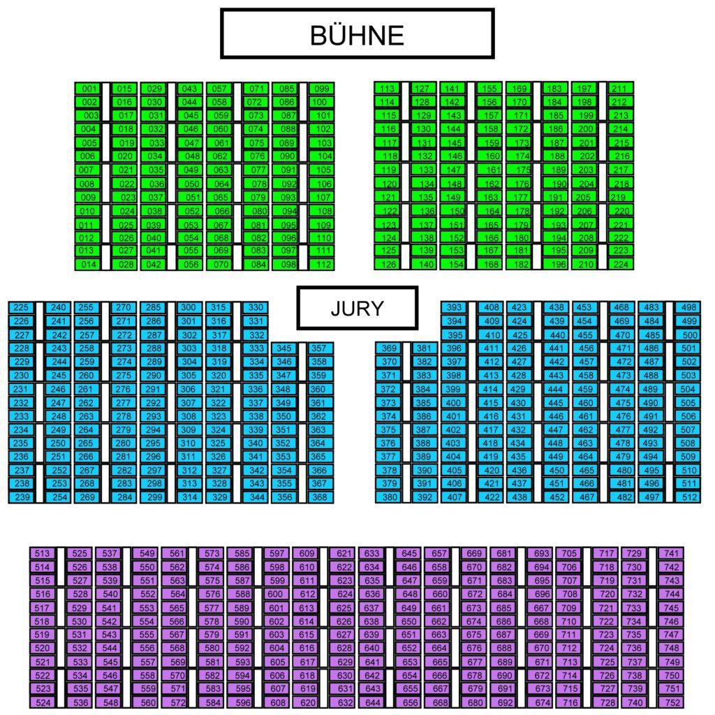 Sitzplan Europahalle